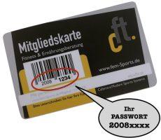 Passwort auf Mitgliedskarte